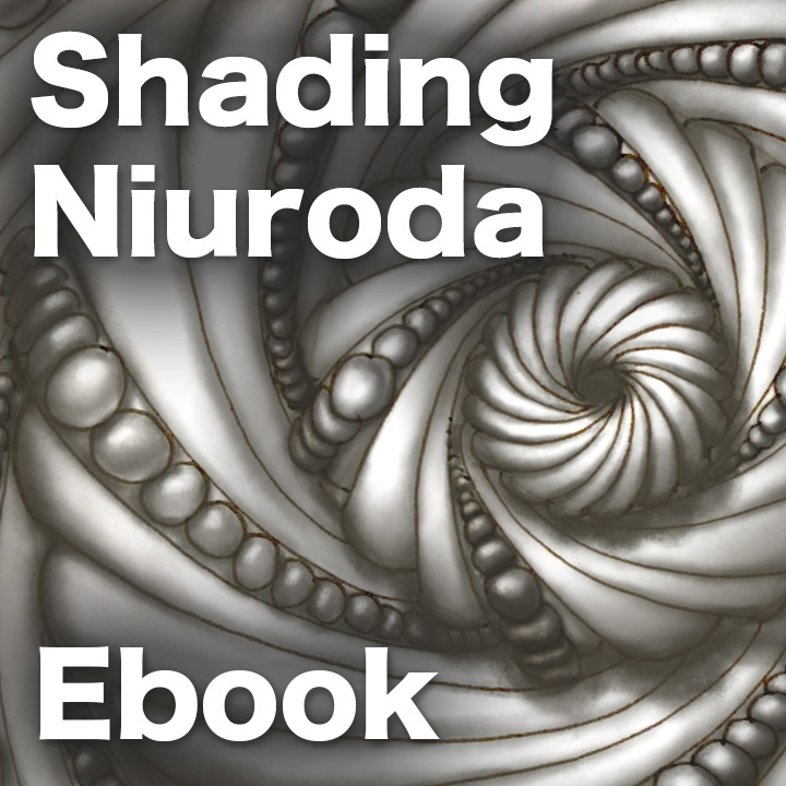 Shading NiurodaPDF Ebook - Learn how to shade this exquisite tangle in 3 different version, from simple to super ornate. 41 pages ebook.Delivery via email linksLearn more or comment