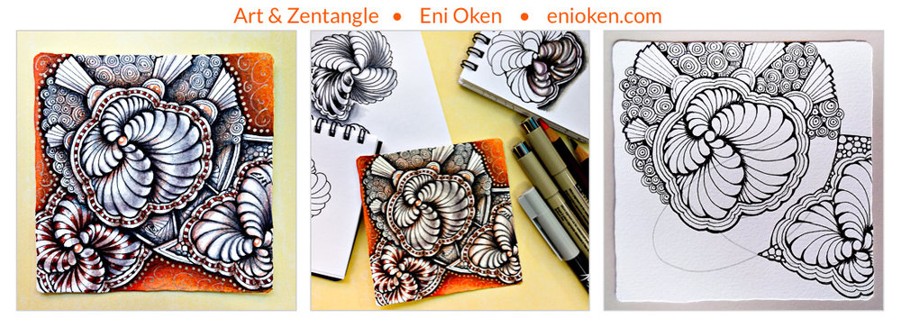 Learn to create beautiful Zentangle® * enioken.com
