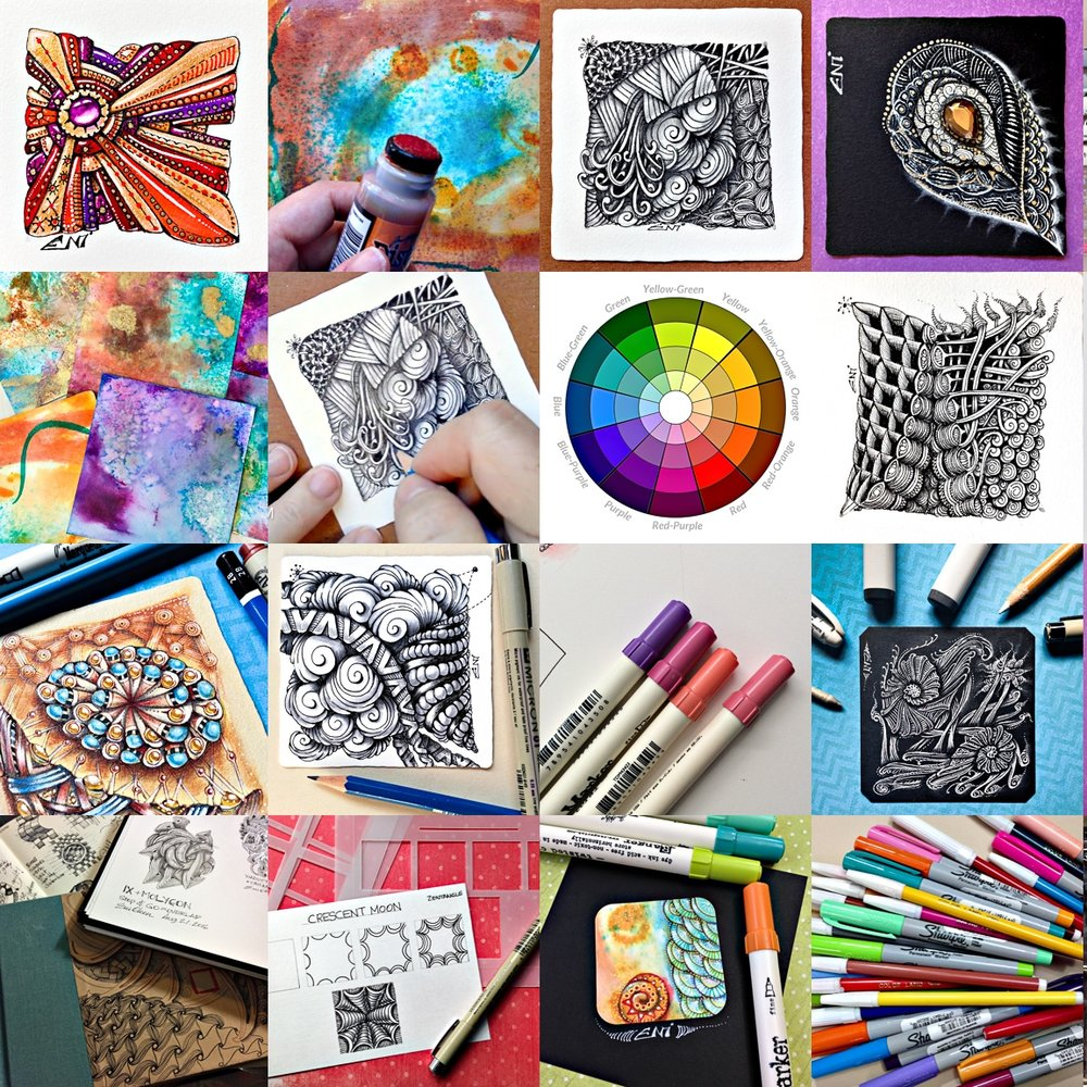 pick and choose lessons a-la-carte - Visit my shop and choose from over 20 different lessons on Zentangle, design and shading