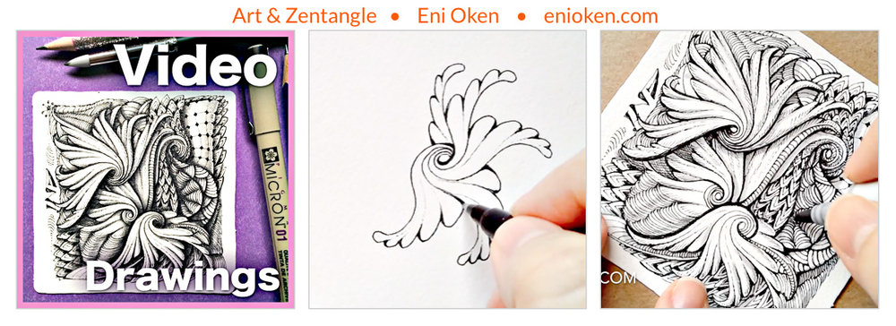 Learn how to create tangle Drawings, from beginning to end • enioken.com