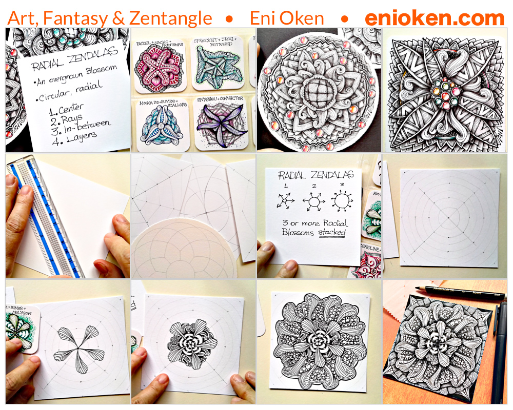 Learn how to create beautiful Radial Zendalas • enioken.com