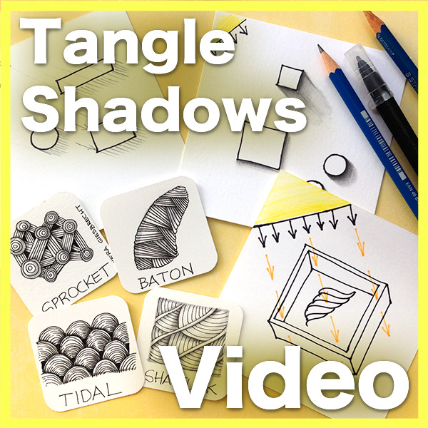 Tangle Shadows Tiles Video - Remove the stress of creating convincing Shadows for your tangles with my easy approach.Delivery via email link