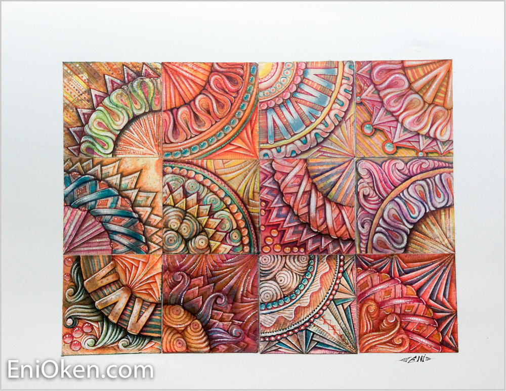 Learn how to create beautiful Zentangle® • enioken.com