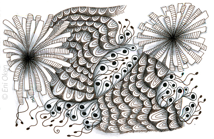 Early Zentangle inspired drawing • enioken.com