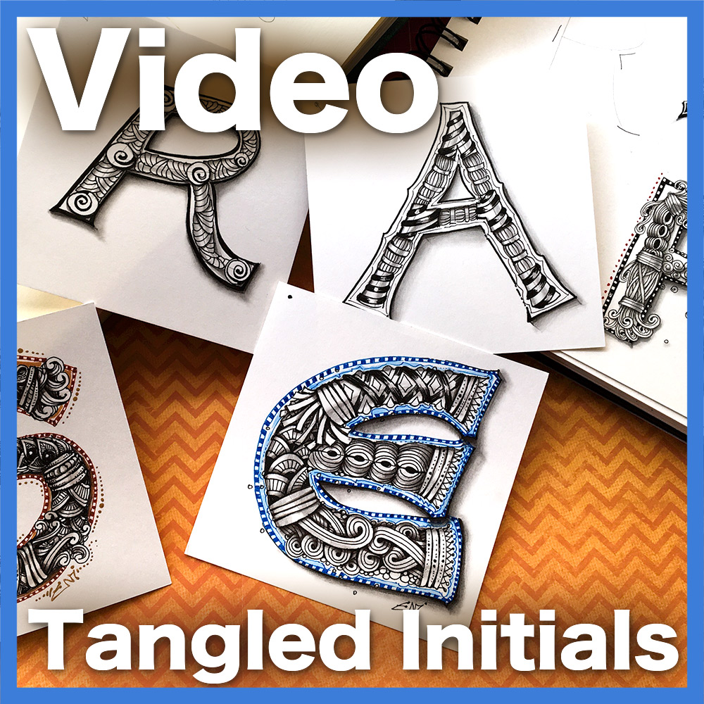 Tangled Initials Video Lesson - A 56-minute video teaching you how to create intricate initials using my unique method. Learn moreVisit the shop