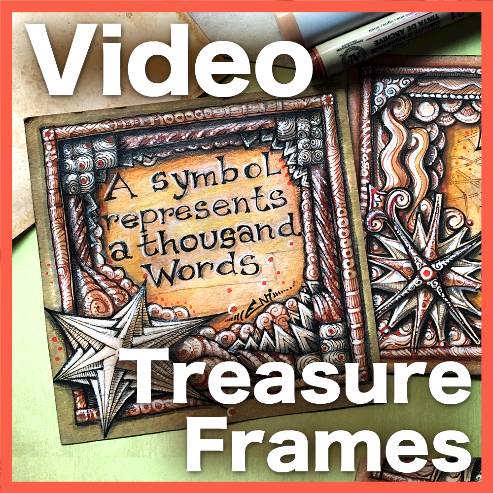Treasure Frames Video Lesson - Almost a sequel to Tan Treasure, this hour long lesson shows you how to prepare your own