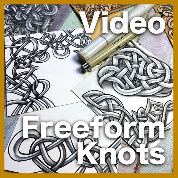 Freeform Knots Video Lesson - Learn how to create and shade beautiful freeform