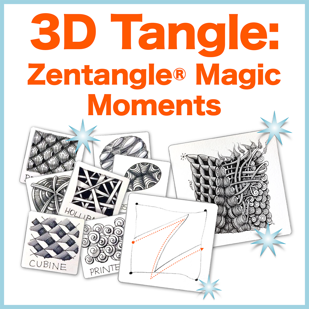 Zentangle® Magic Moments - PDF Ebook - Even if you are able to take a class with a CZT, this book will explain WHY and HOW the Zentangle method works so beautifully. Delivery via email linksLearn more or comment