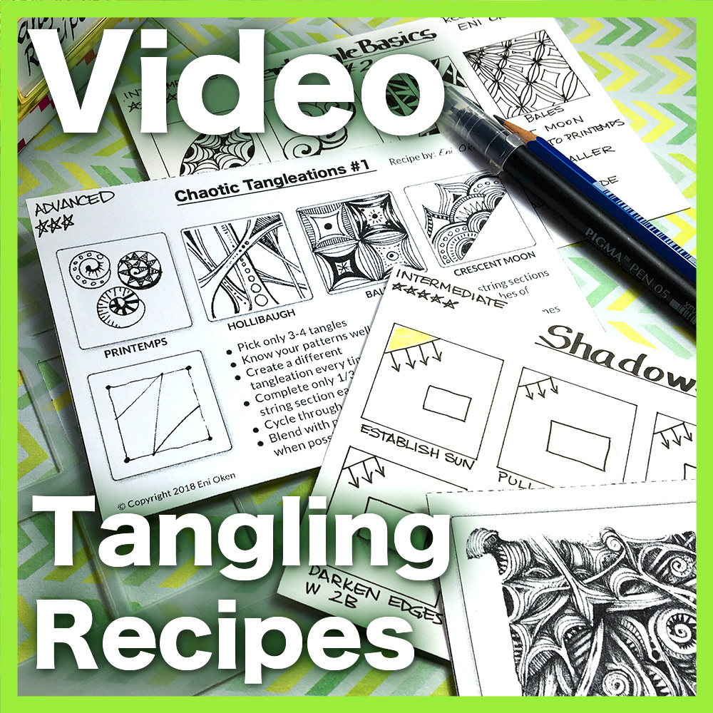 Tangling Recipes Video Lesson - Learn an organizational method that will help you to stay organized and inspired even when the muse decides to go for a walk! An easy 34 minute video lesson.