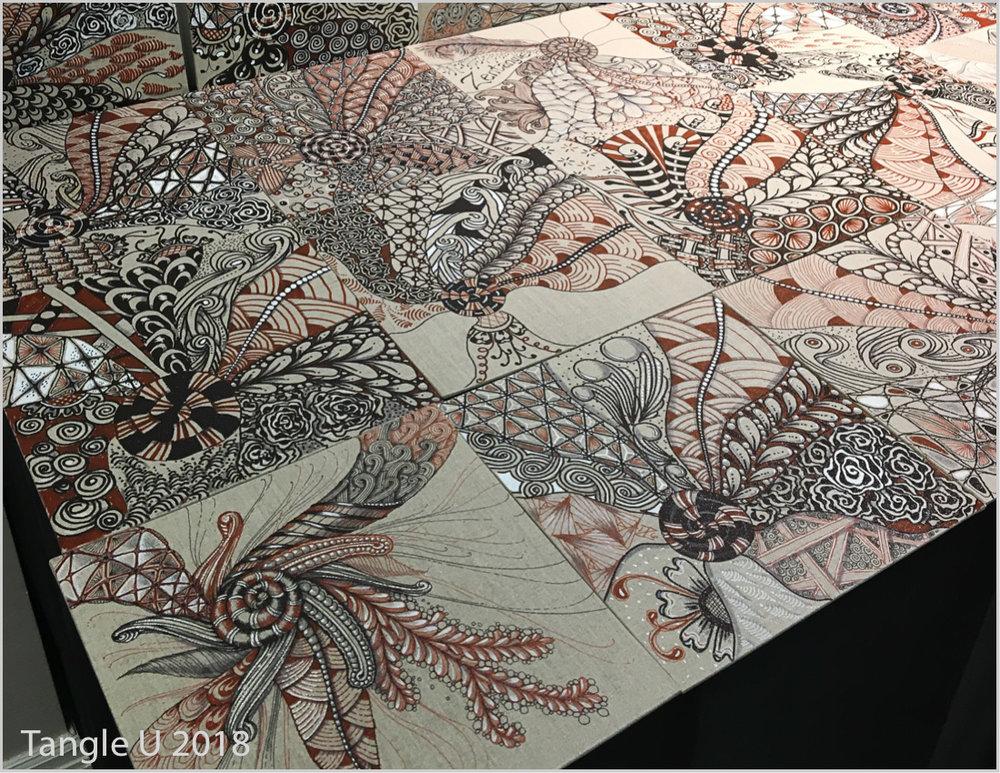 Mosaic from Kim VanZyll's Linen Panel class