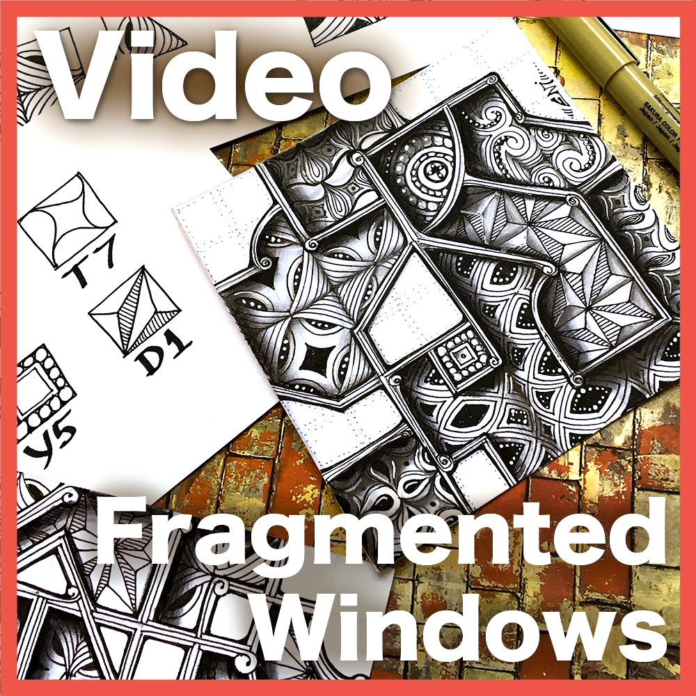 Fragmented Windows Video Lesson - Start to understand how to manipulate fragments, while creating this super dramatic and dimensional frame. Intermediate 50-min video. Get it at the shop