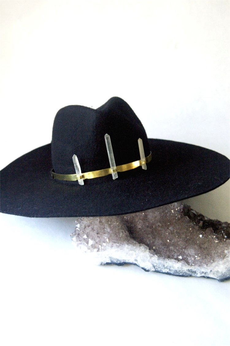 Hat with a crystal crown, we were totally serious.  Flight of Fancy  is the place to find the perfect gift for the gypsy in your life.