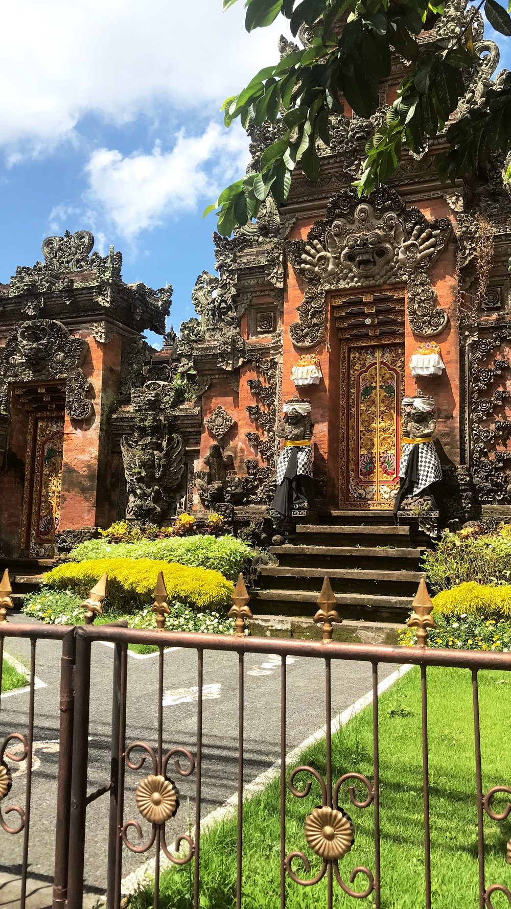 Entrance to a home in Ubud, Indonesia.
