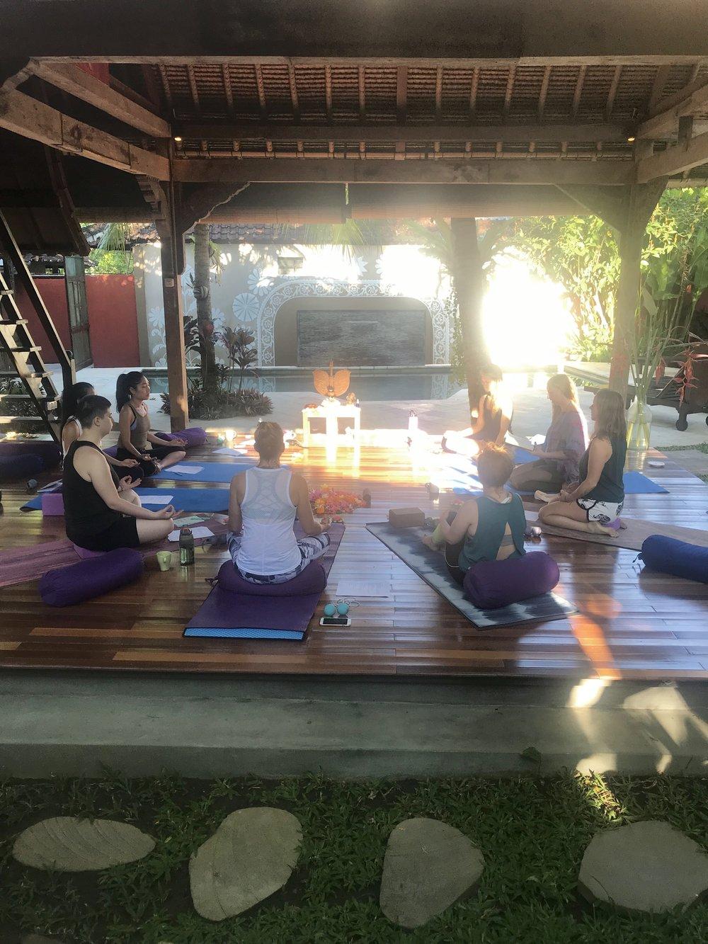Yoga and more yoga.