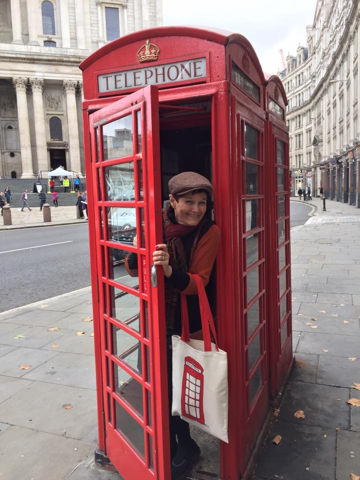 Here Julie is in London just outside of the Westminster Cathedral.