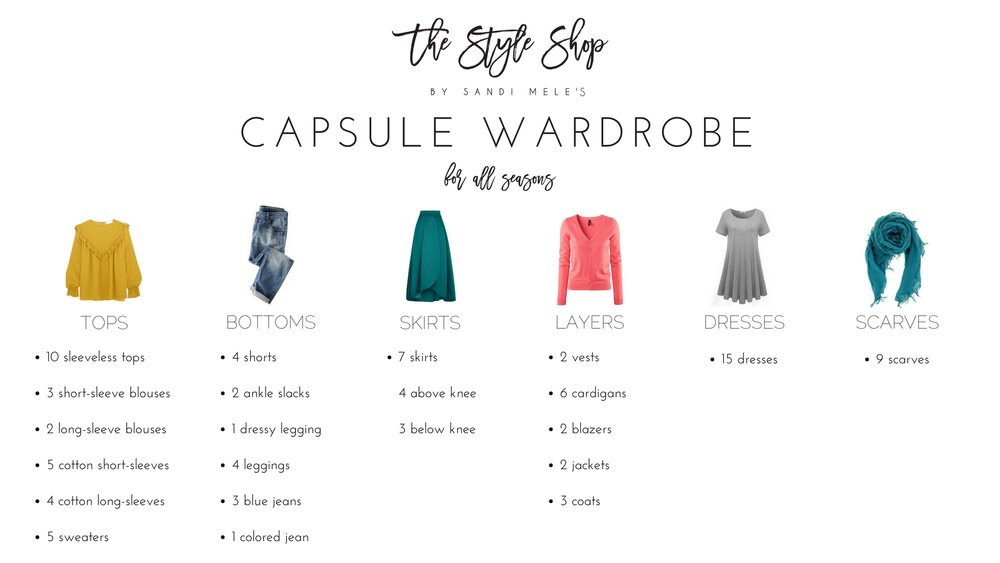 The Style Shop by Sandi Mele's Capsule Wardrobe
