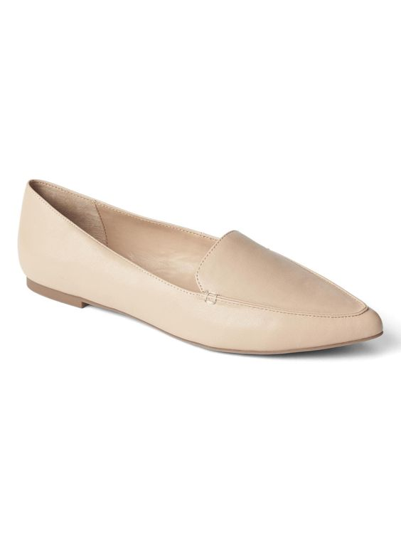 Leather Pointed Loafers from Gap