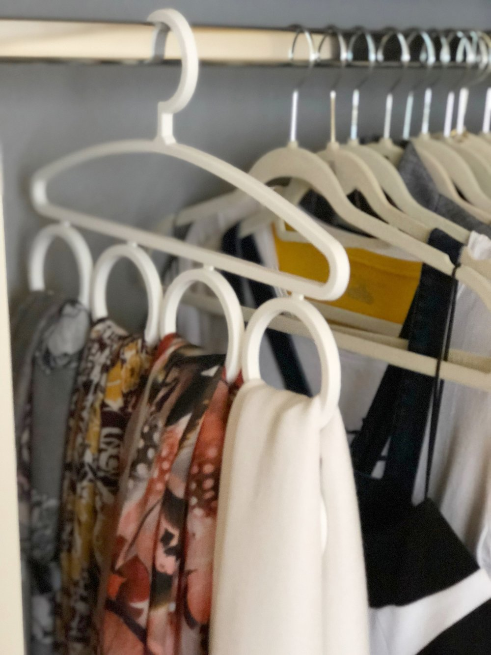 Scarf Organizer - The Style Shop by Sandi Mele - How to Organize Your Closet Accessories