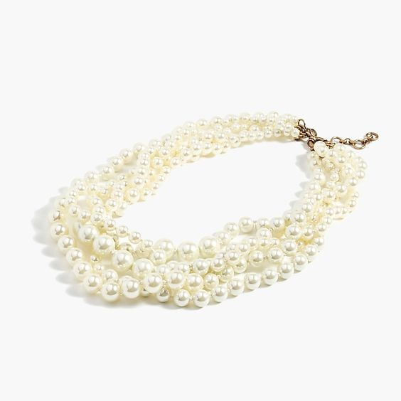 Pearl Twisted Hammock Necklace by JCrew