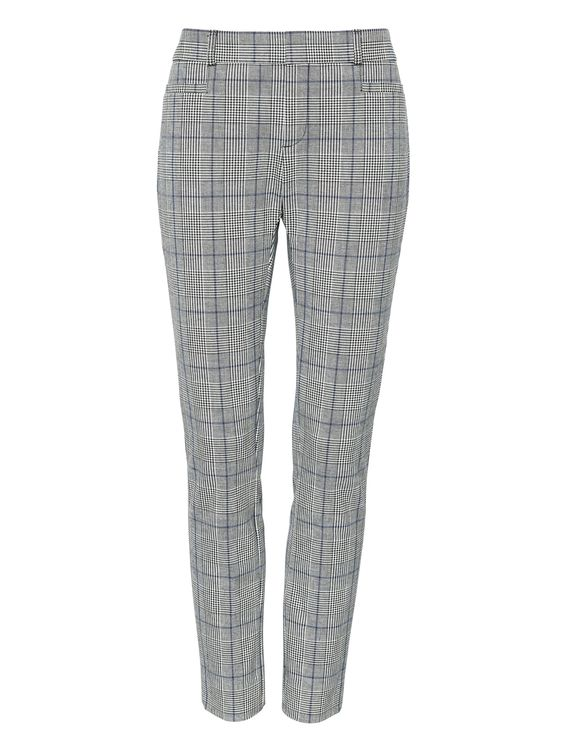 Sloan Skinny-Fit Plaid Ankle Pant by Banana Republic