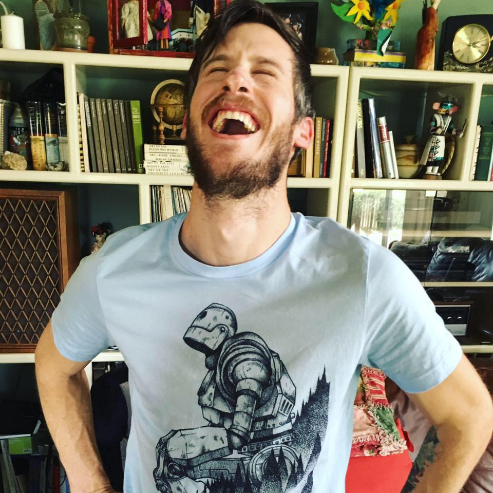 Two favorite things: laughing and The Iron Giant.