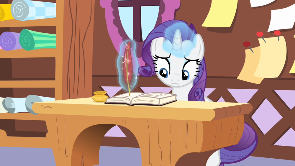Rarity is stressed out! Because she doesn't have a pre-book launch marketing plan. :D Source: My Little Pony Wiki.