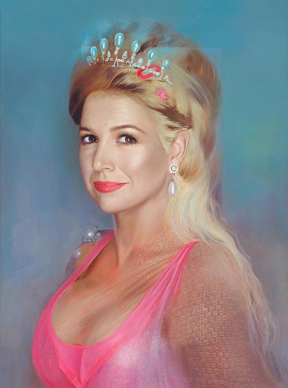 """Koningin    Máxima   Zorreguieta    One of my best and favorite paintings of """"my"""" Queen Maxima. Queen of The Netherlands."""