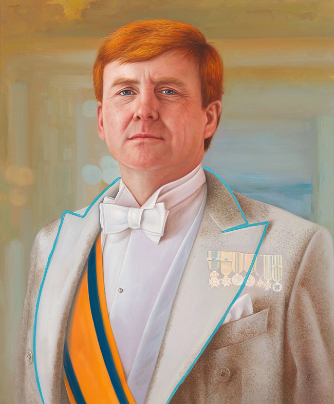 Willem-Alexander, King of The Netherlands   Painting of Dutch King Willem-Alexander.