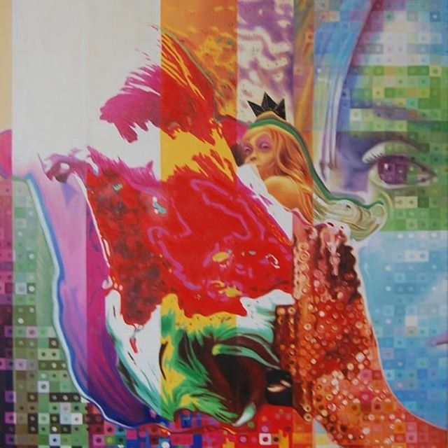 "Title: ""The tulip"" / ""De tulp"" Artist: Menunana  Another 'ancient' painting I did.  #painting #schilderij #oiloncanvas #tulip #kunst #art #instapainting #contemporaryart #noordwijk #surrealism #magicrealism #visionaryart #visionaryrealism"