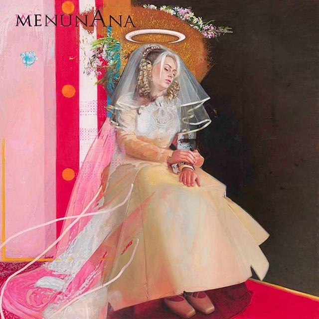 Title: marriage of two 1's Artist: Menunana  One of my favourite paintings.  #painting #art #contemporaryart #surrealism #instapainting #marriage #halo #oilpainting #bride #wedding #weddingdress #dutchartist #schilderij #noordwijk