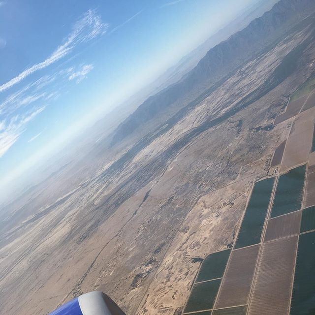 Tuesday, flying into Phoenix, AZ for a conference. Going home today!
