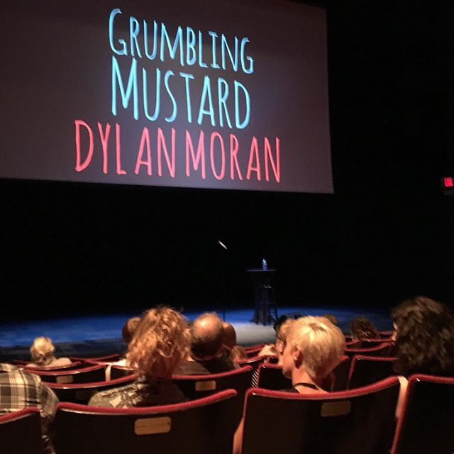 Monday night, about to see Dylan Moran in Austin, TX.