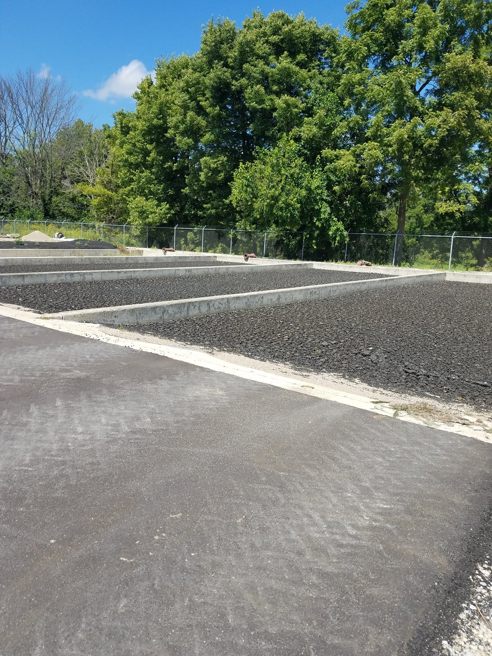 RapidFloc Technology has been utilized on these sand drying beds since 1993 in Lewisville, IN at South Henry's WWTP.