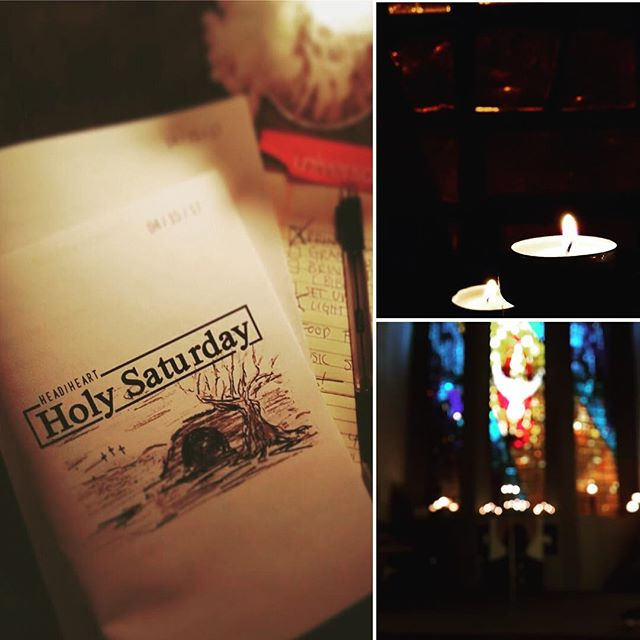 Head/Heart: Holy Saturday begins at 7pm tonight in the Imago Dei Prayer Space (SE 15th & Ash). #holysaturday