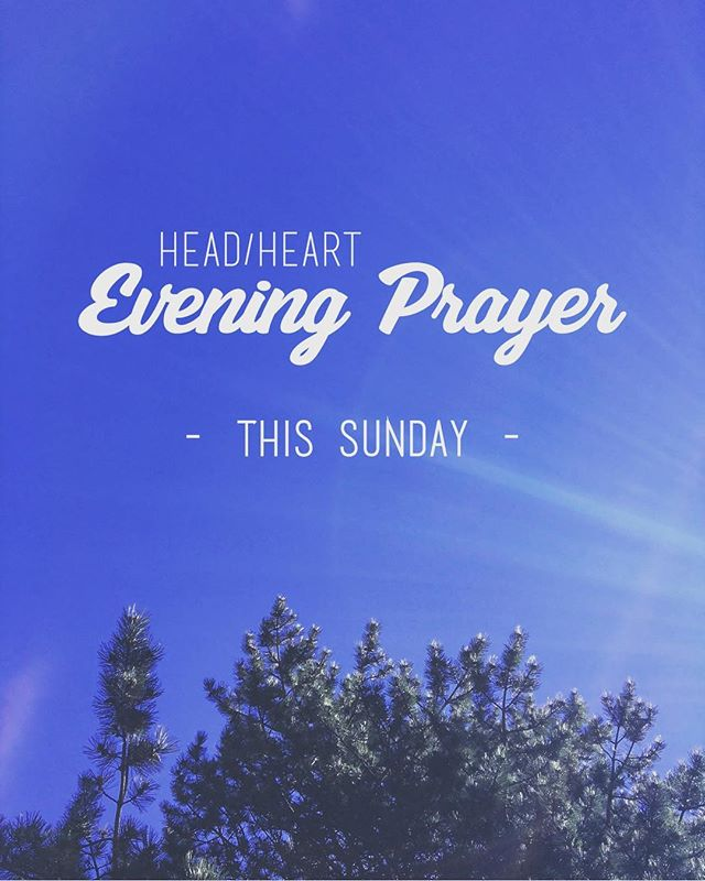 Can you believe this sunshine today? Happy May, indeed. The first Sunday of the month is coming up, and you know what that means? Head/Heart is this Sunday! Meet us in the Imago Dei Prayer Space (SE 15th Ave & Ash St) at 7pm. Now go back to enjoying that sunshine! 🌞