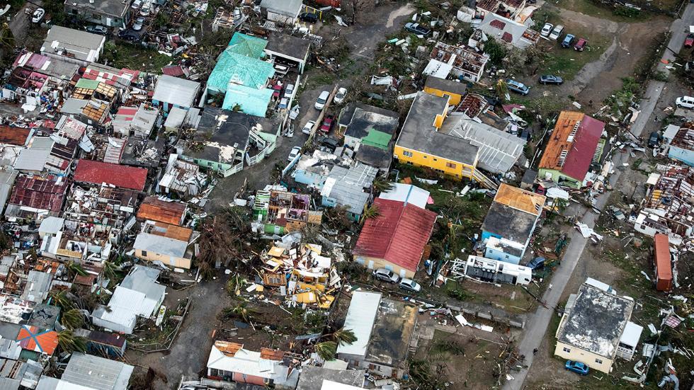 Devastation following Hurricane Irma