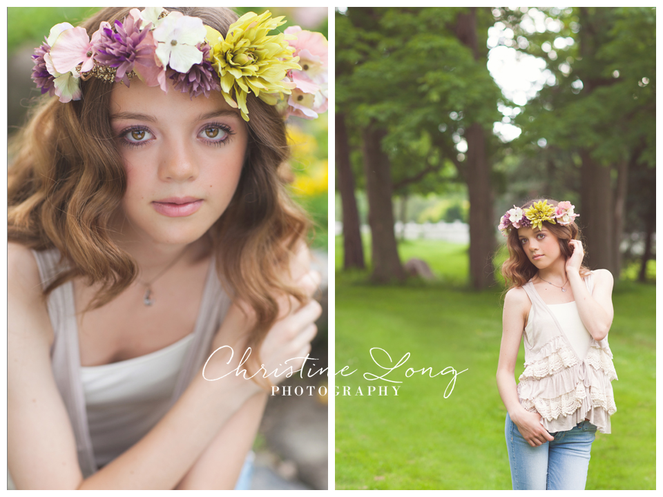 northville high school senior portraits_flower crown