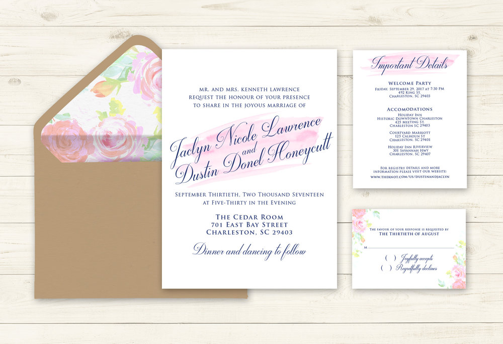 invitation design | rustic wedding