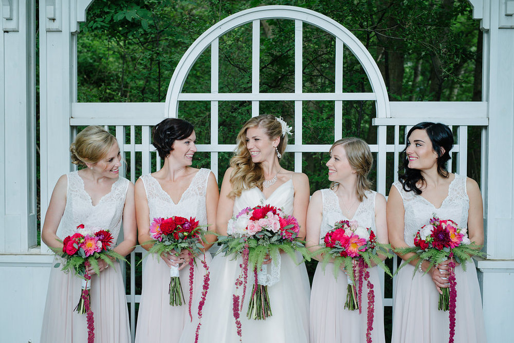 bridesmaids blush hayley paige opal gown ancaster mill