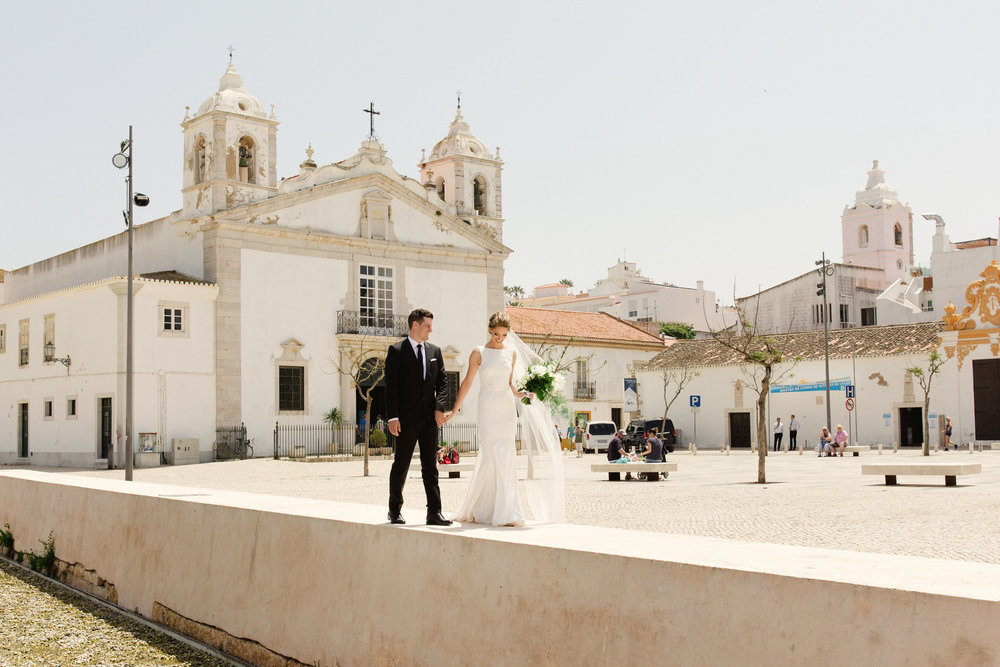 just married portugal pronovias bride groom