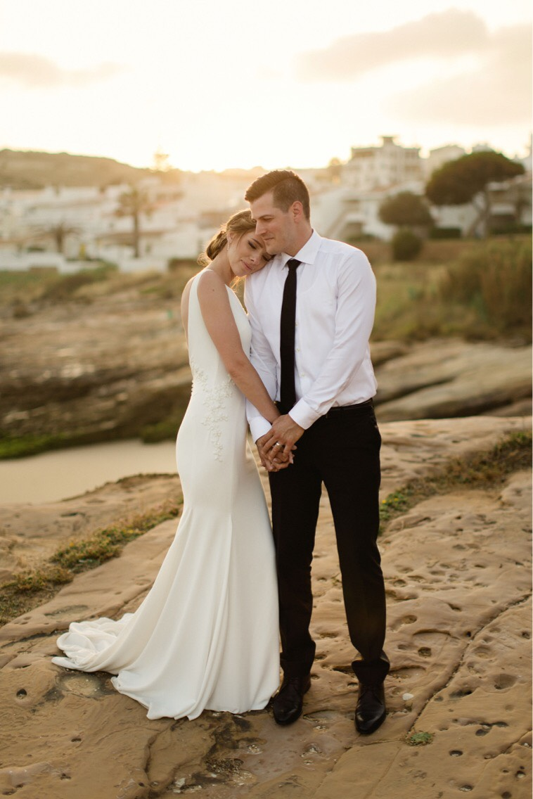 sunset photos portugal pronovias olinda bride groom