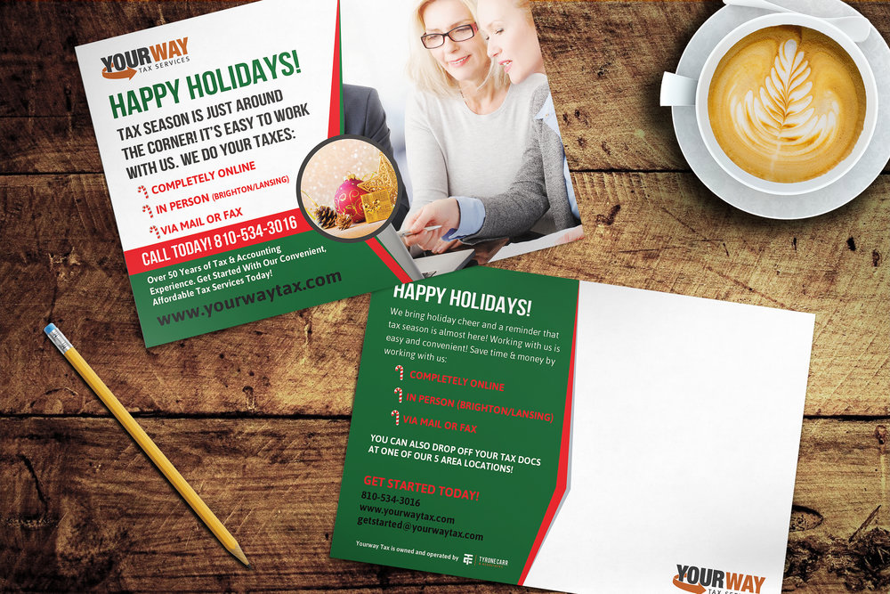 Holiday Postcards - YourWay Tax Services