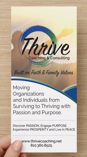 Rack Cards - Thrive Coaching & Consulting