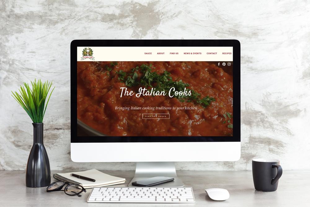 Website Design - www.theitaliancooks.com