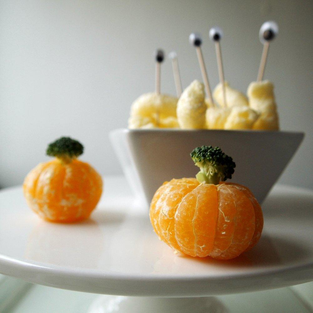 halloween vauva taapero hedelmä kurpitsa satsuma