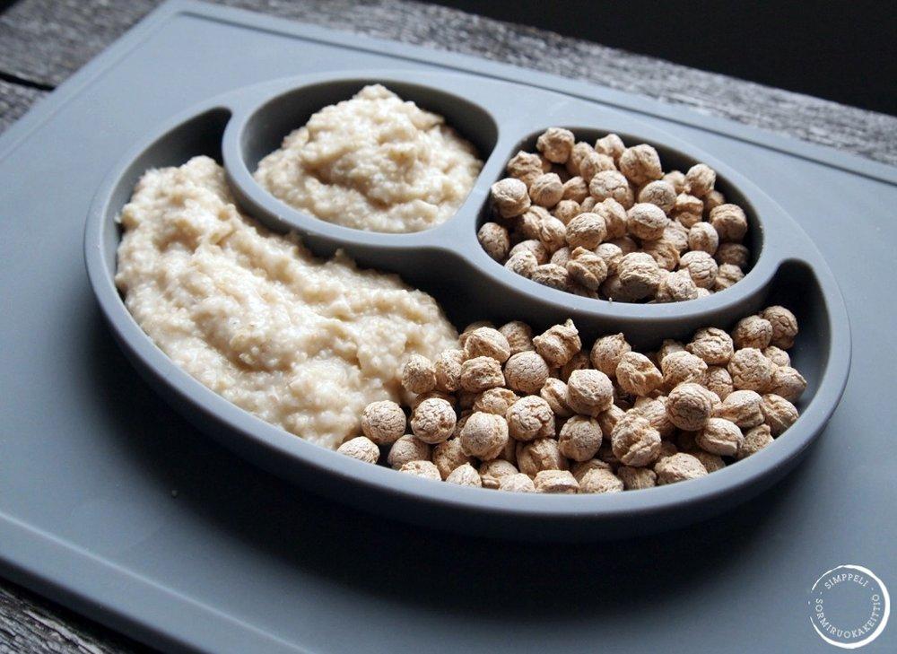 Puuro - ja TalkMURU -annokset, joissa molemmissa 4g ravintokuitua.