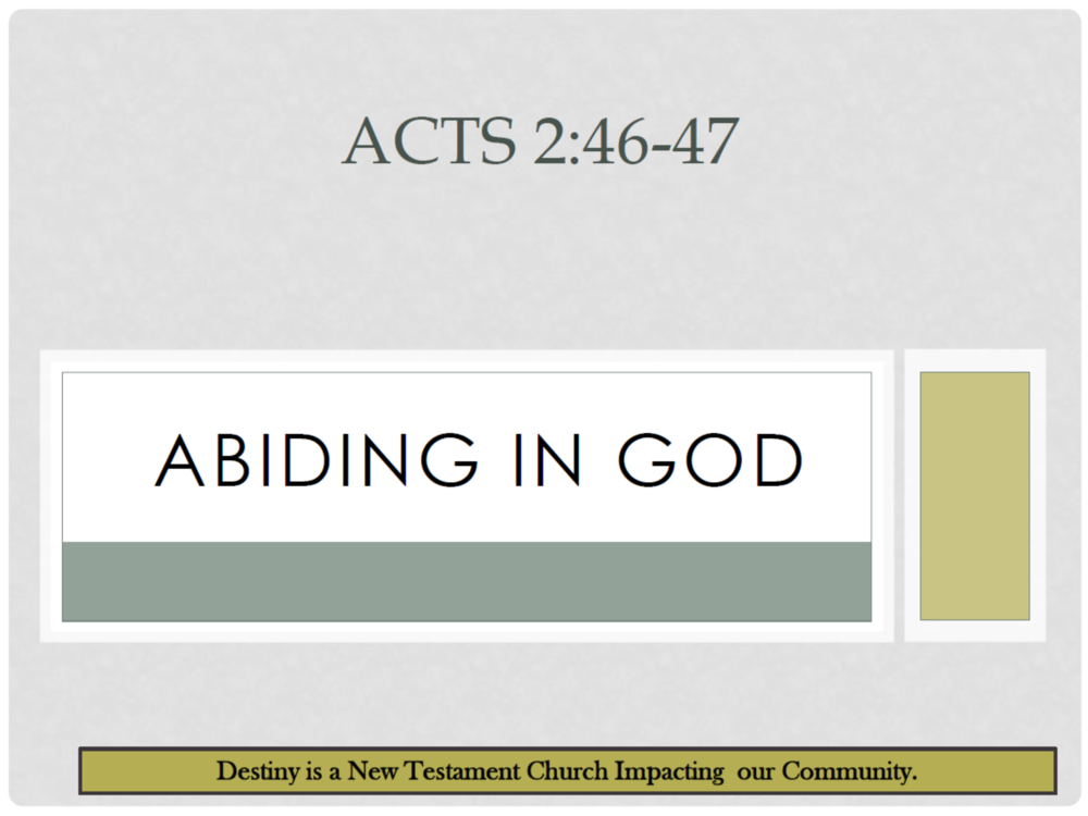 Week 2 - Abide in God