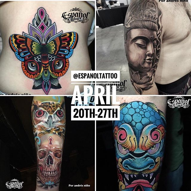 We are days away from having @espanoltattoo with us doing a guest spot. To book your appointment with him email us at : houseofmonkeytattoo@gmail.com