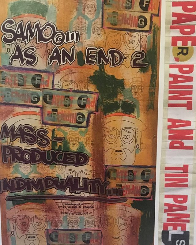 "If your a fan of #jeanmichelbasquiat than your familiar with the tag #samo ... check out Al Diaz who with Basquiat wrote ""Samo"" in lower Manhattan from 1977 to 1979. Check out his work at:  HACO  31 Grand St.  Brooklyn NY 11249.  Opening Reception May 12th Sat 4-6pm. Exhibit from May 12 -June 10th 2018"