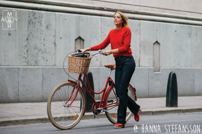 Red Knit & Shoes + Denim